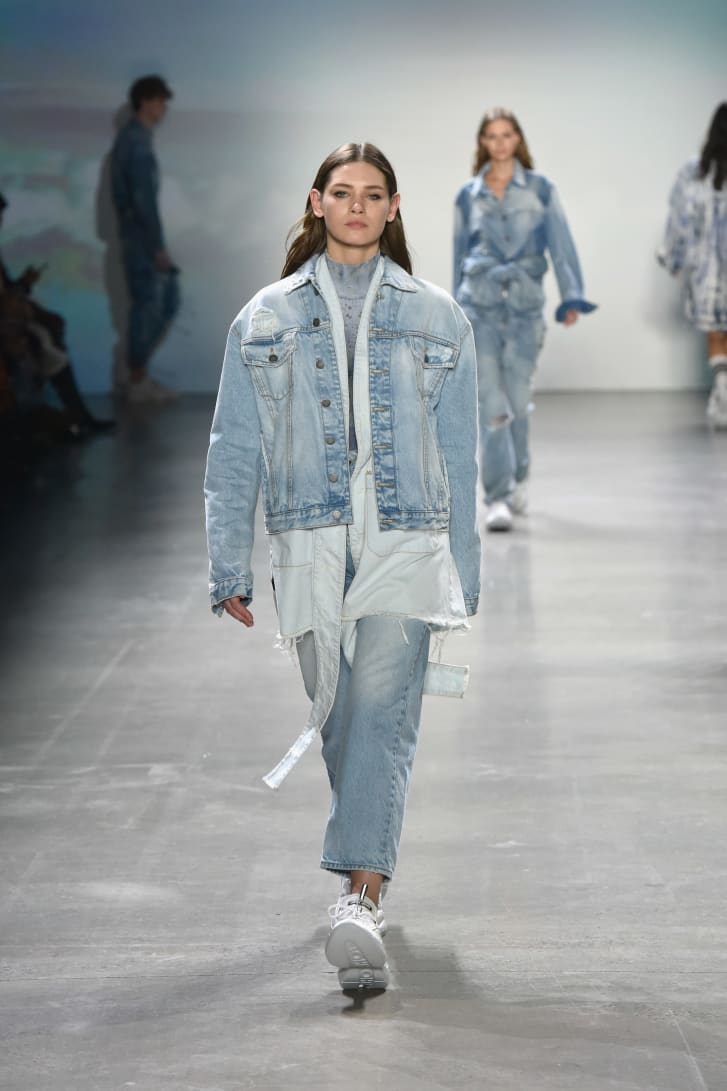 A model walks on the runway during New York Fashion Week in February 2019.