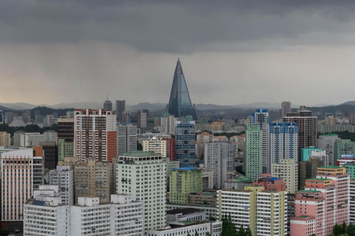 The Ryugyong Hotel in 2018.