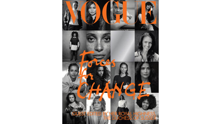 The cover of British Vogue's September issue.