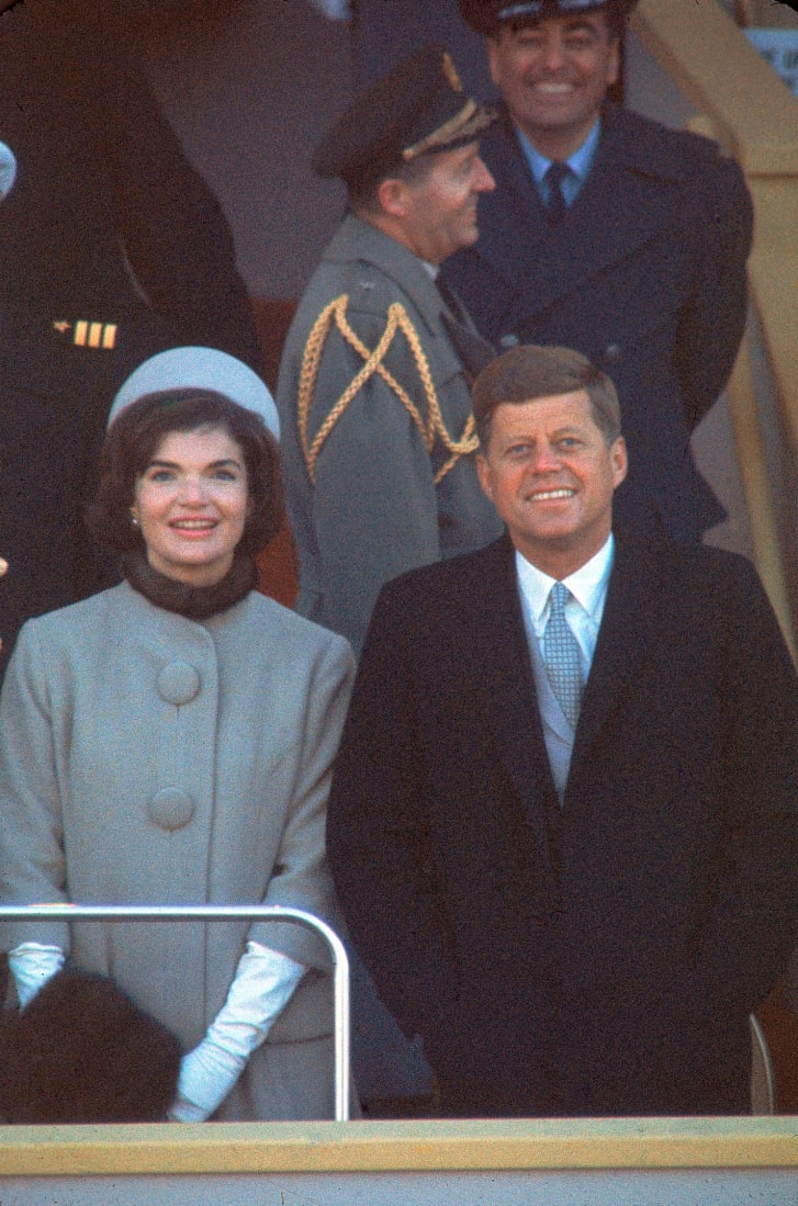 President Kennedy with First Lady Jackie at his inauguration.