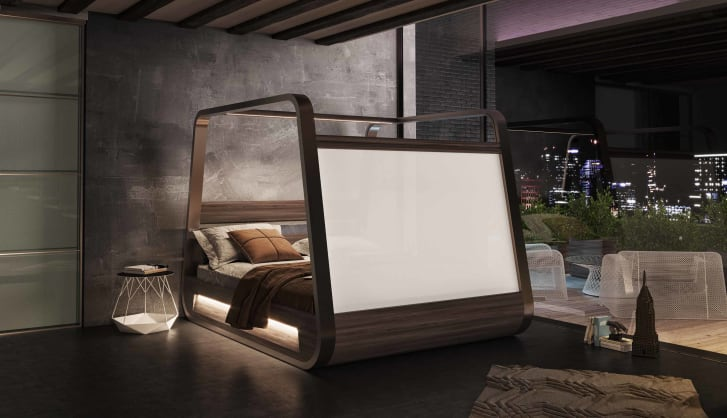 Designed by Italian architect Fabio Vinella and design firm Hi-Interiors, the HiBed is available next year.