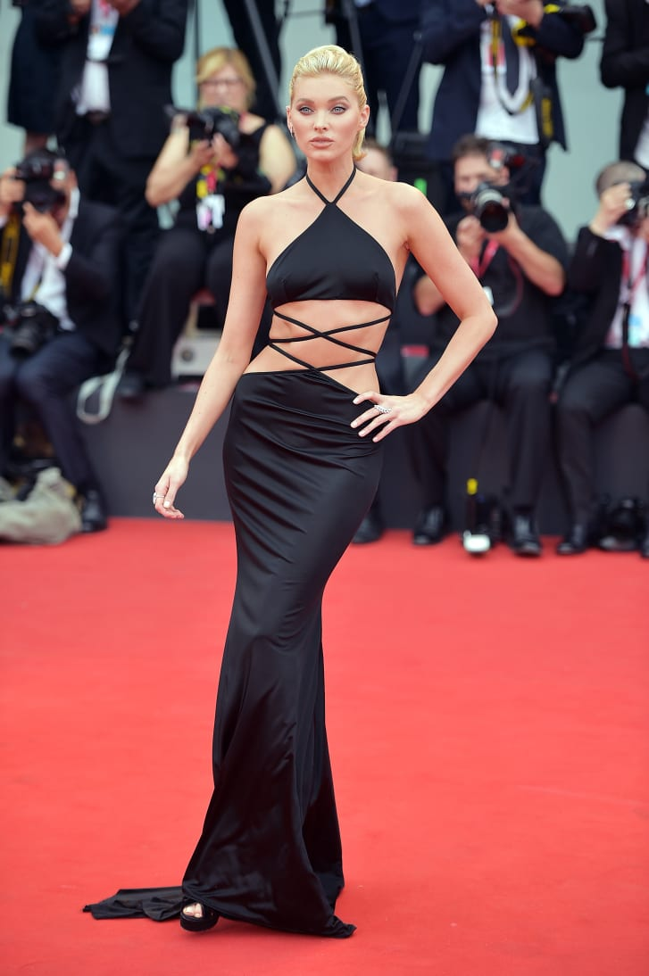 "Elsa Hosk walks the red carpet ahead of the Opening Ceremony and the ""La Vérité"" (The Truth) screening during the 76th Venice Film Festival."