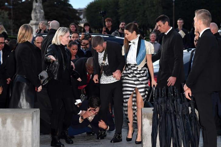 Justin Timberlake grabbed prankster Louis Vuitton