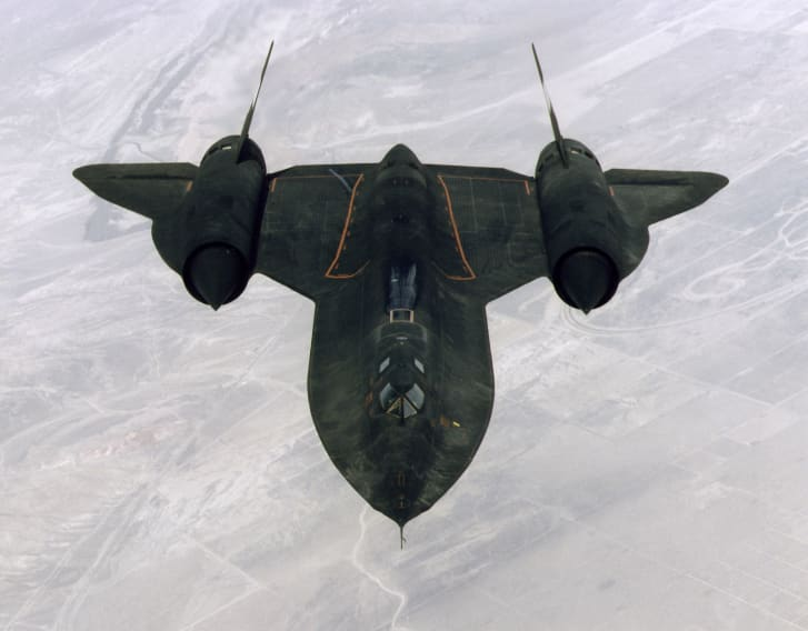 An SR-71 ''Blackbird'' during a training mission in 1997.