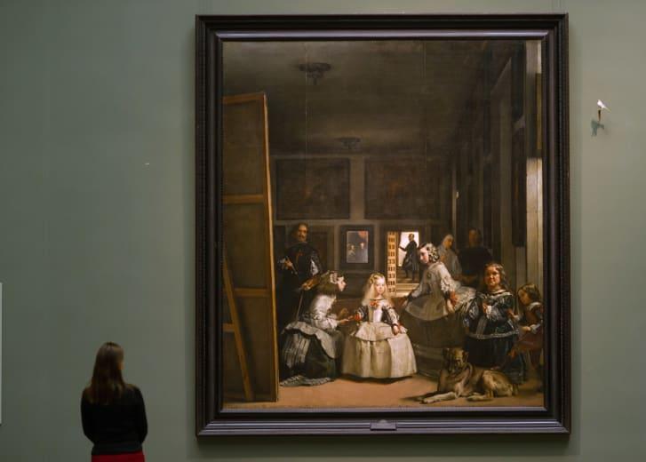 """Diego Velazquez's """"Las Meninas"""" is seen at the Prado museum on November 19, 2013 in Madrid, Spain."""