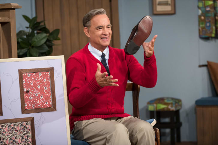 """Tom Hanks stars as Mister Rogers in TriStar Pictures' """"A Beautiful Day in the Neighborhood."""""""