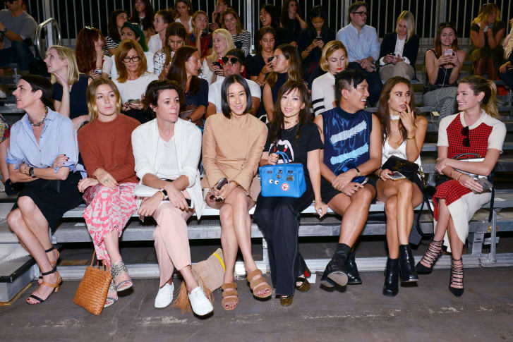 Garance Doré, sitting front row at fashion week in 2015 where she admits she was unhappy.