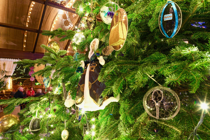 The decorated tree is worth $15 million, according to the hotel.