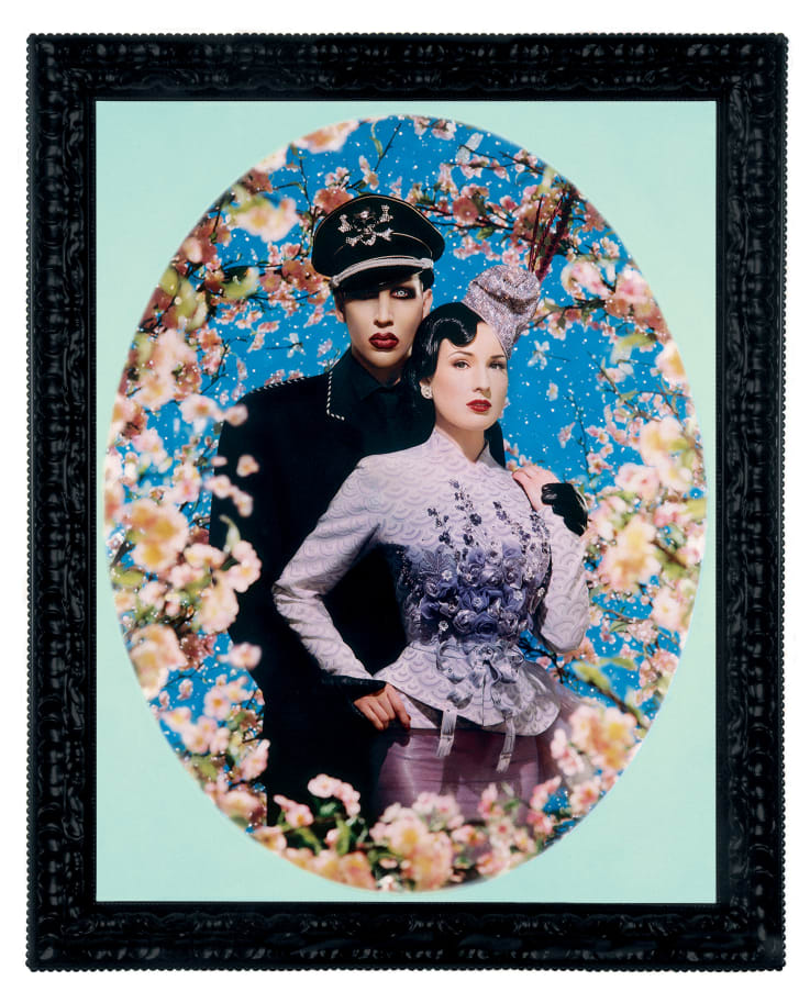 """""""Le Grand Amour,"""" (Marilyn Manson and Dita von Teese), from the Pinault Collection."""