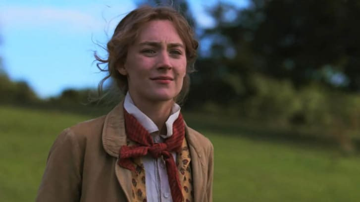 Actress Saoirse Ronan as Jo March.