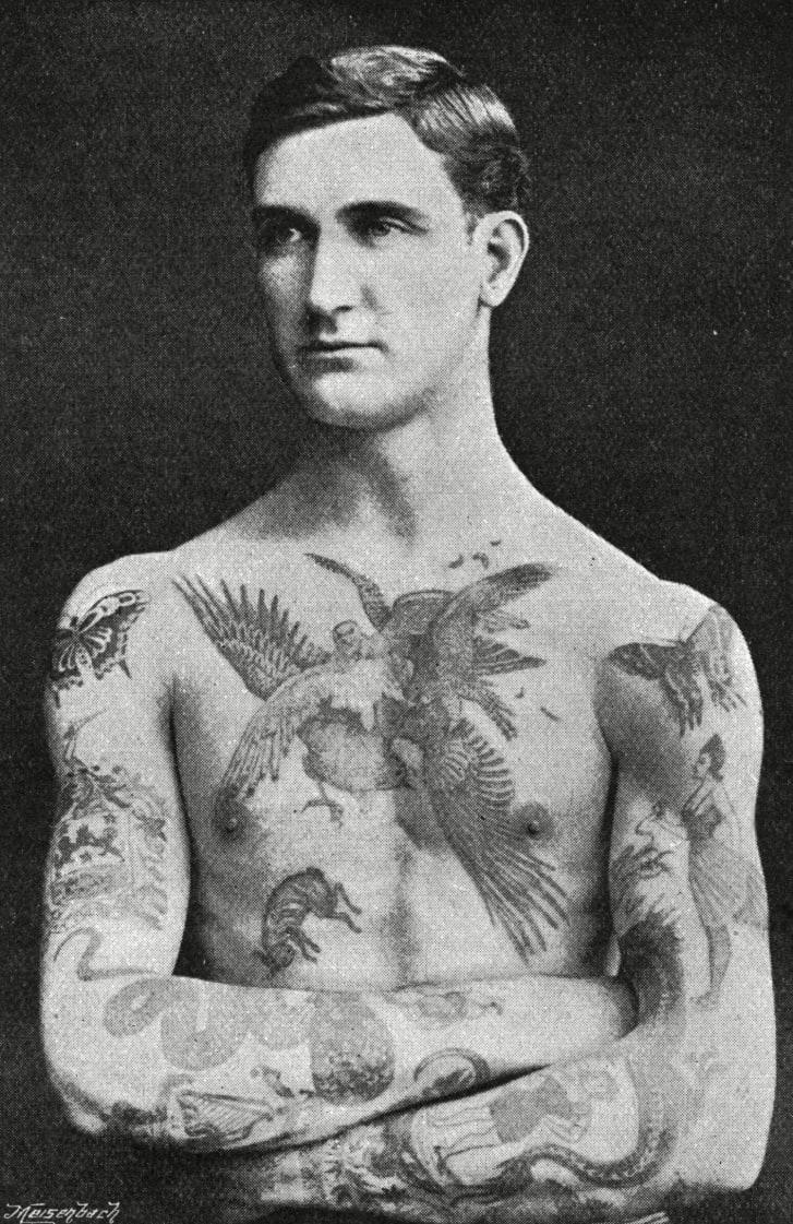A tatooed msterpiece by Mr. utherland Macdonald of Hamman Studio Jermyn Street London,1897.