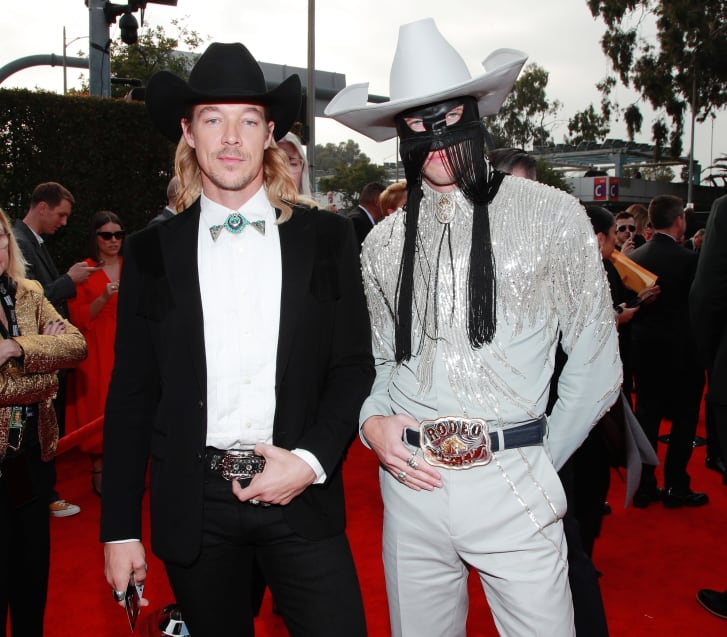 Diplo and Orville Peck attend the 62nd Grammy Awards.