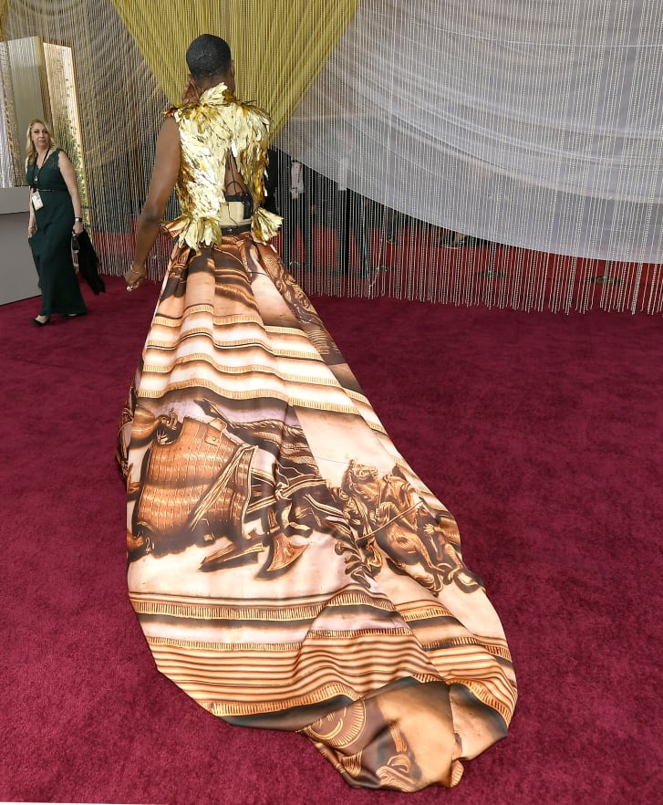 Billy Porter's train at the 92nd Academy Awards