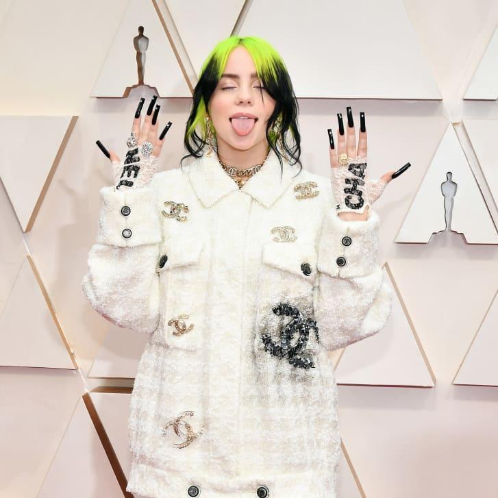 Billie Eilish on the Oscars red carpet