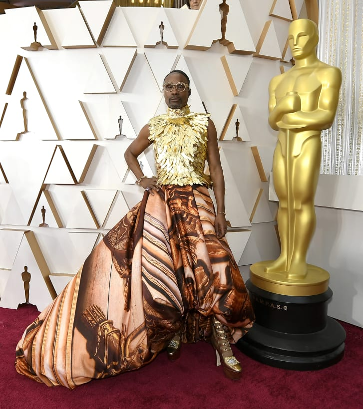 Billy Porter in custom Giles Deacon at the 92nd Academy Awards