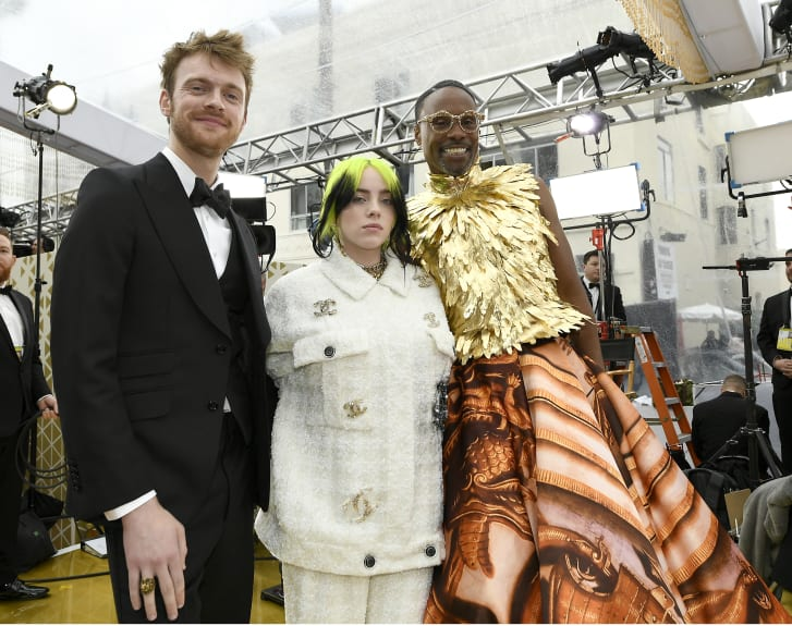 Billie Eilish and Billy Porter at the 92nd Academy Awards