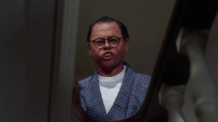 "Mickey Rooney as Mr. Yunioshi in ""Breakfast at Tiffany's."""