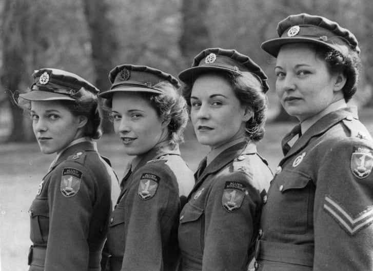 Four female cipher and switchboard operators (1945)