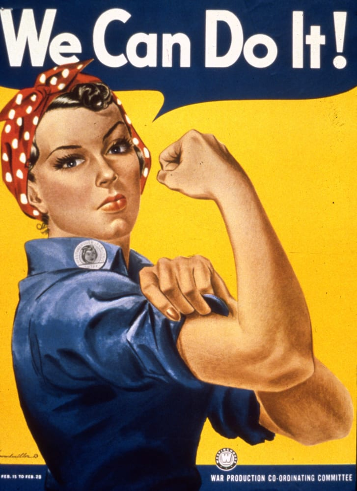 'Rosie the Riveter' by J. Howard Miller for Westinghouse Electric (1942)