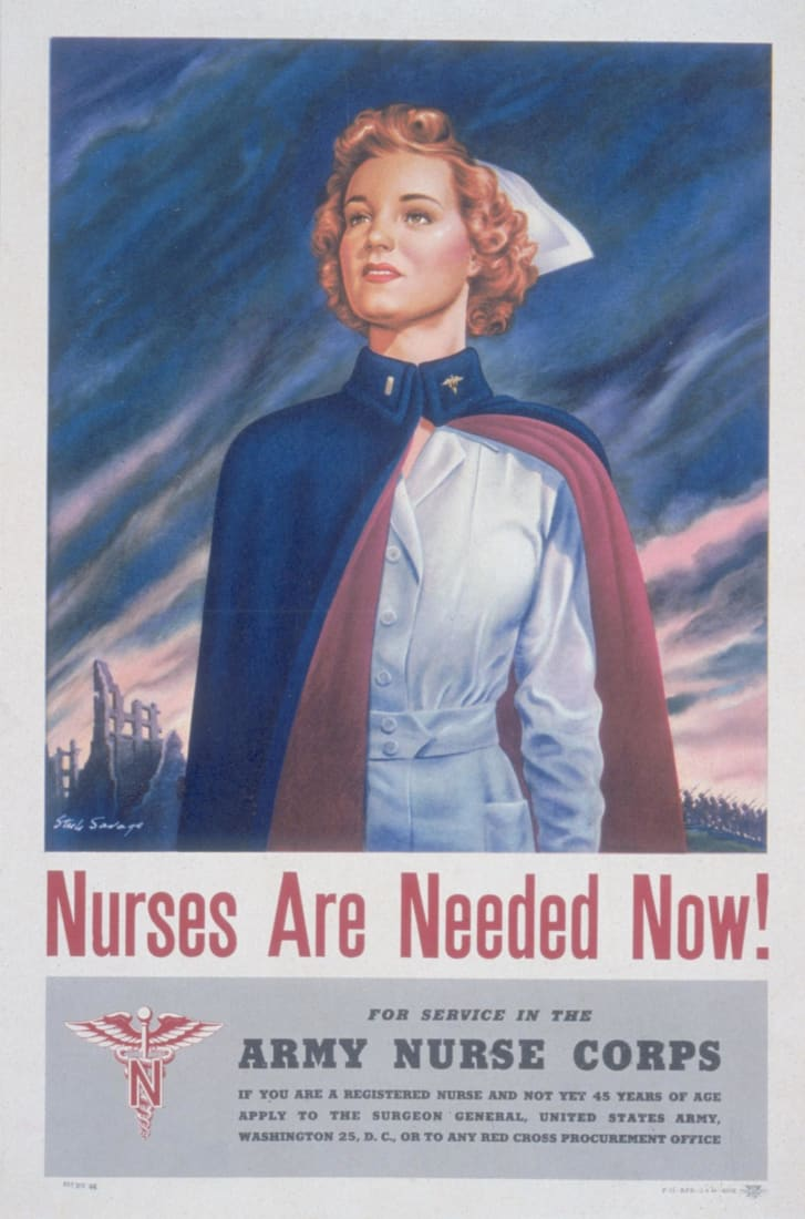 US Army Nurse Corps recruiting poster (early to mid 1940s)
