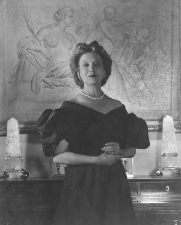 Portrait of beautician and cosmetics entrepreneur Elizabeth Arden (1947)