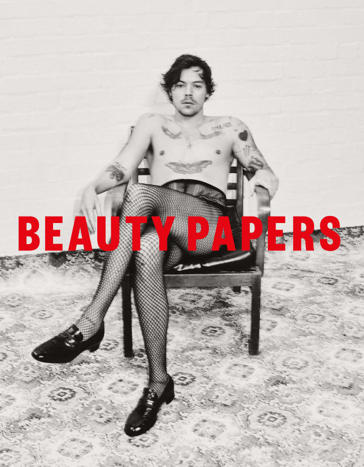 Harry Styles on the cover of Beauty Papers