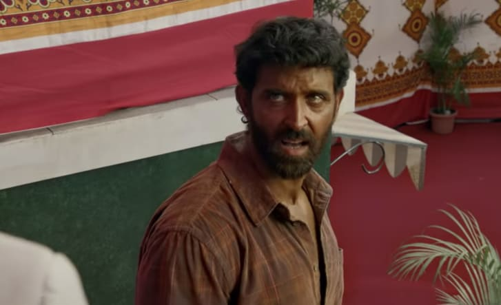 "A screengrab of Bollywood star Hrithik Roshan in a trailer for the 2019 Bollywood movie ""Super 30."" The film was criticized for darkening the skin of the actor who played the role of a teacher from the state of Bihar, which the World Bank describes as ""one of India's poorest states."""