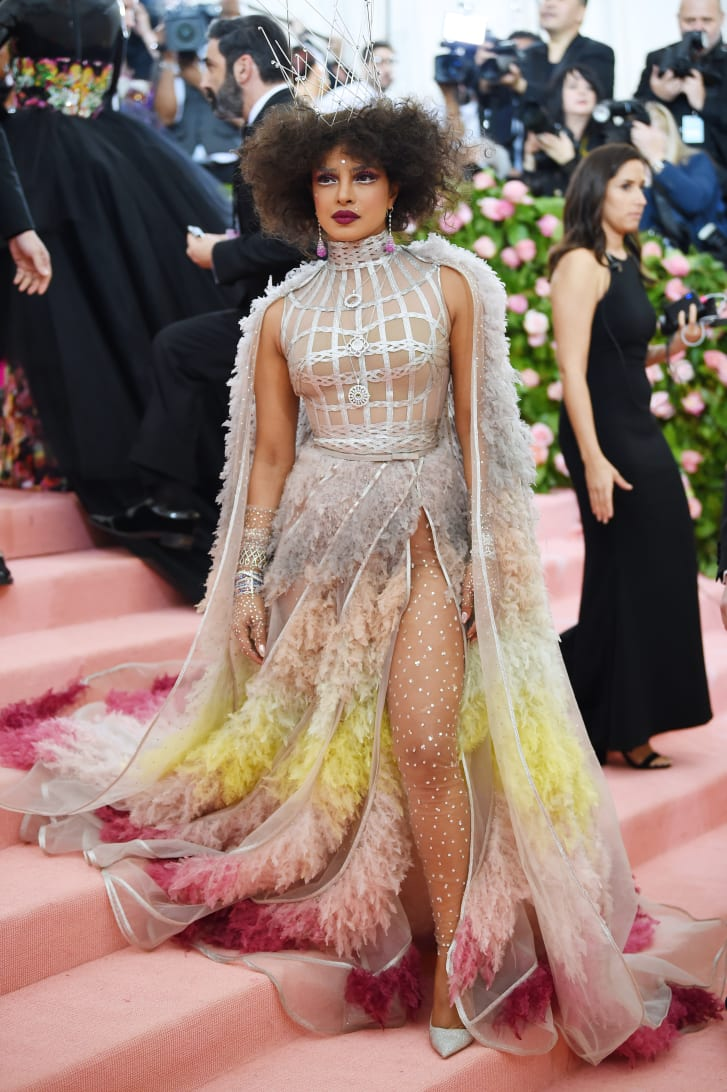 "Priyanka Chopra  attends The 2019 Met Gala ""Celebrating Camp: Notes on Fashion""."