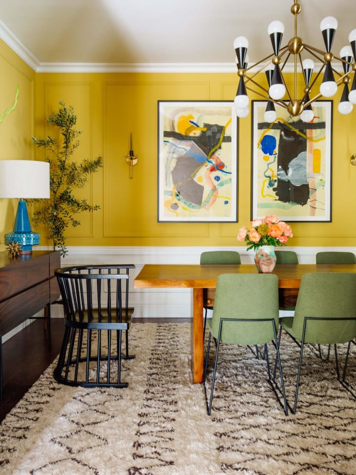 Warmer tones, like yellow, can be energizing.