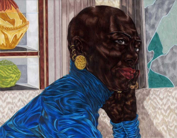 Ojih Odutola is exhibiting new work, made during lockdown, at a virtual show for New York's Jack Shainman Gallery.