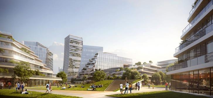 Aunque principalmente para el uso de Tencent, muchos de los espacios e instalaciones serán accesibles al público.