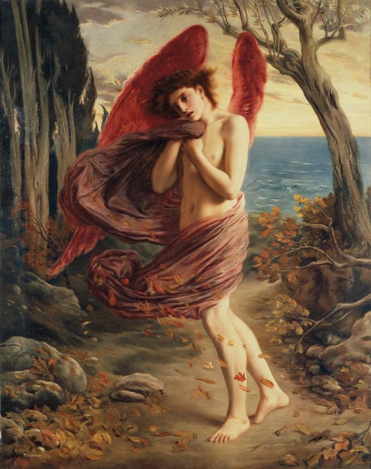 """Love in Autumn"" by Simeon Solomon (1866)"