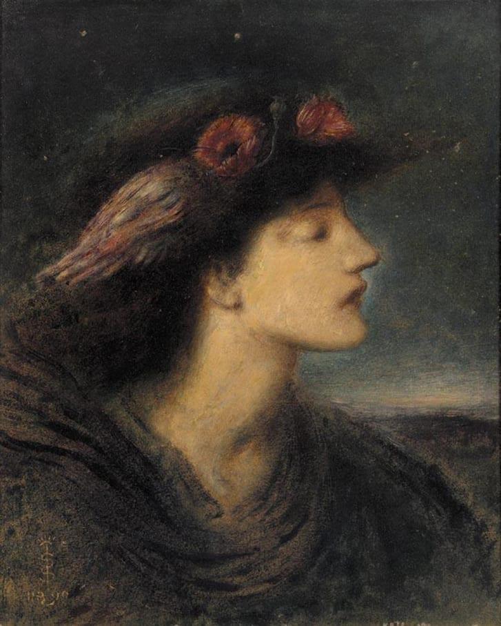 """Night"" by SImeon Solomon"