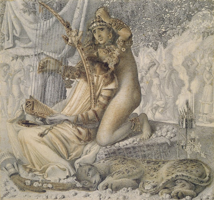 """Babylon hath been a golden cup"" by Simeon Solomon"