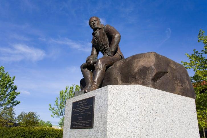 Statue of Alexander Ivanovich Baranov, Sitka, Baranof Island, Alaska, USA