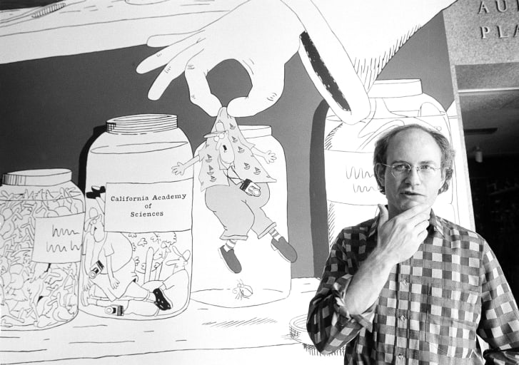 Cartoonist Gary Larson pictured in 1985.