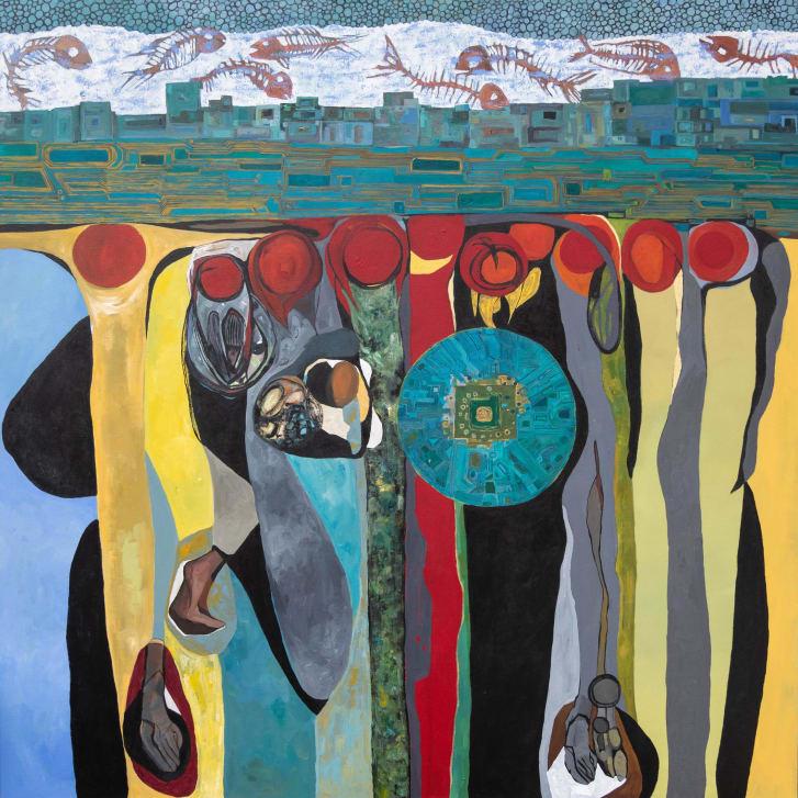 """Untitled XLIV"" by Merikokeb Berhanu, 2020"