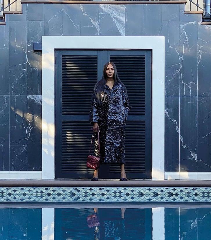 Naomi Campbell's self-portrait for the latest Valentino campaign