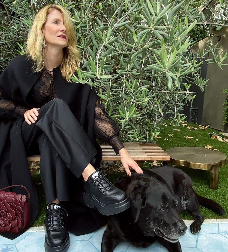 Laura Dern poses in the latest Valentino campaign