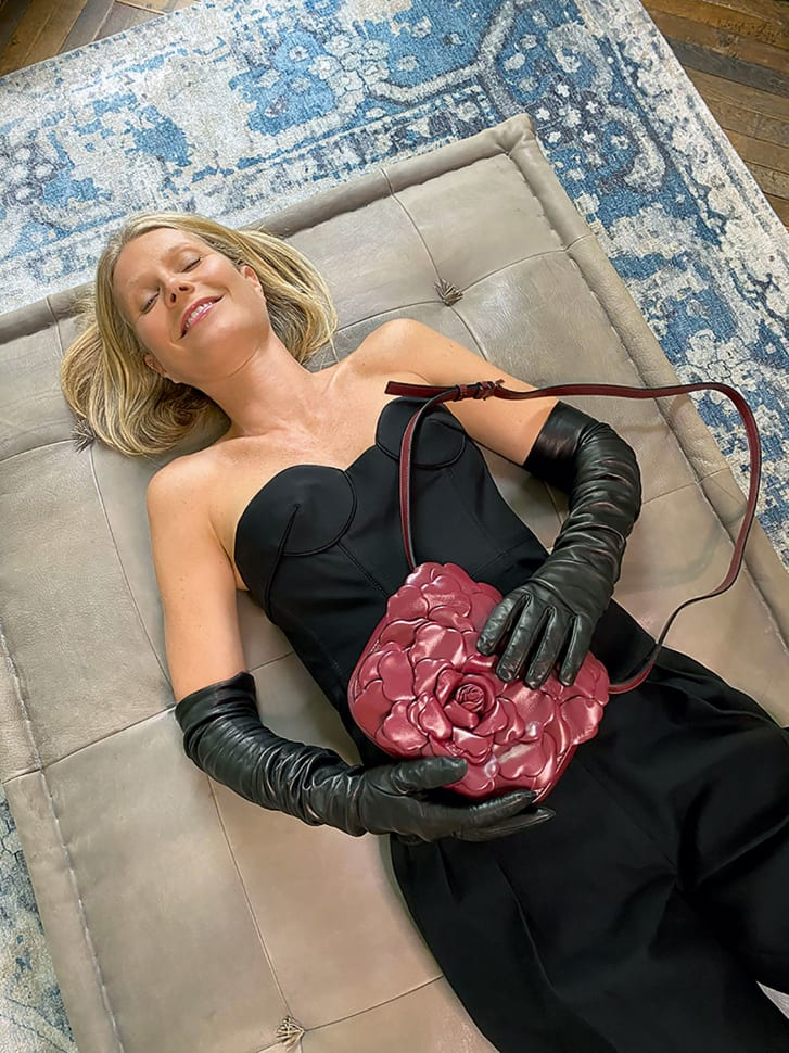 Gwyneth Paltrow lies down at home in the latest Valentino campaign