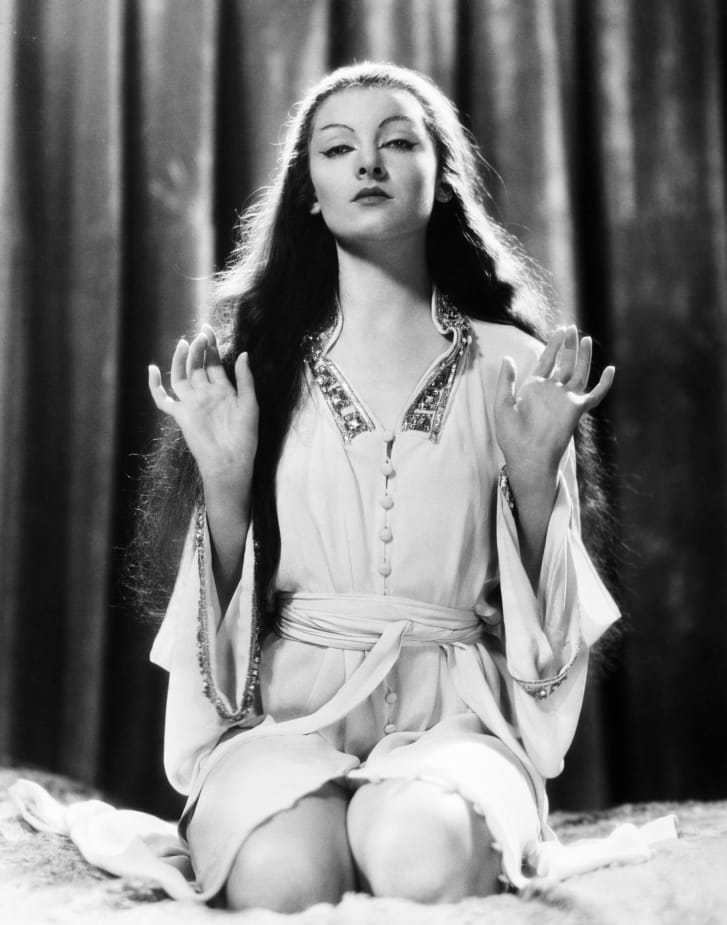 """Myrna Loy, a White actress, portrayed the depraved daughter of Fu Manchu in """"The Mask of Fu Manchu"""" (1932)."""