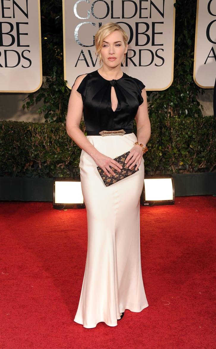 Kate Winslet tiba di Penghargaan Golden Globe Tahunan ke69 yang diadakan di Beverly Hilton Hotel pada 15 Januari 2012 di Beverly Hills, California