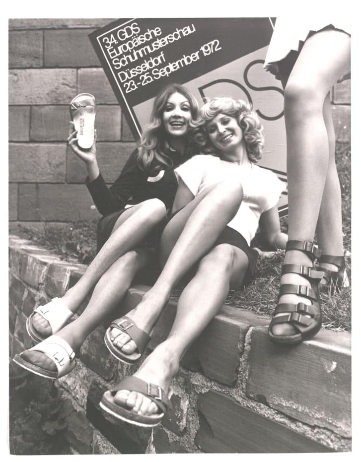 Birkenstock wearers at a German foowear fair, 1972