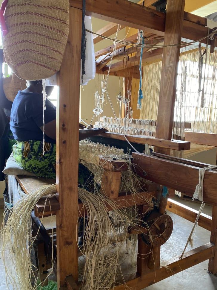 Bubu Ogisi visits weavers making her designs, in Nairobi, Kenya