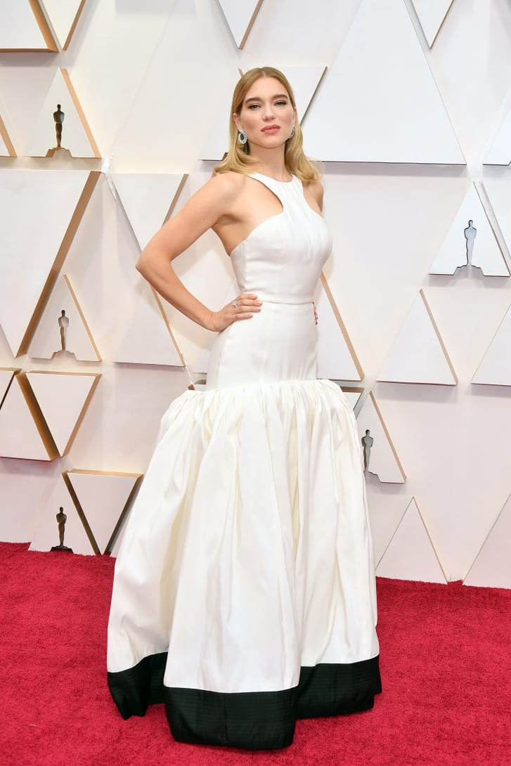 Léa Seydoux's Louis Vuitton dress, worn to the 2020 Oscars, was created in partnership with the Red Carpet Green Dress initiative. The gown incorporated a textile made from Tencel luxe filament yarn, and organic silk faille paired with organic satin sandals.