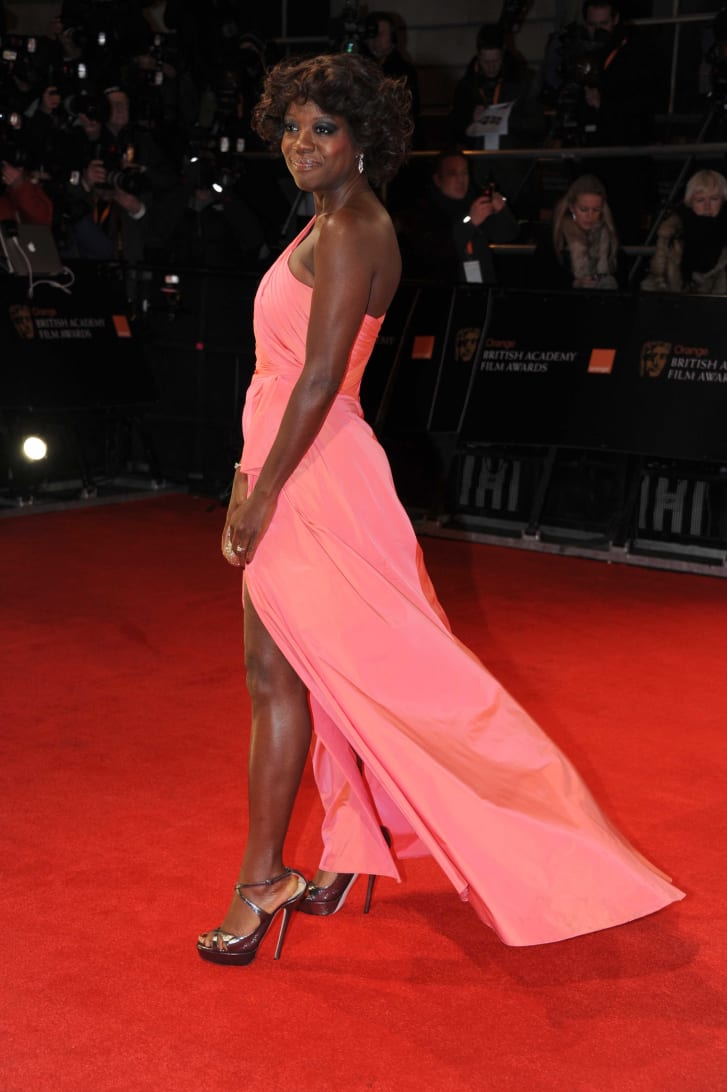 Viola Davis wore a Valentino gown for the Green Carpet Challenge to the 2012 Baftas. Its fabric was crafted from recycled soda cans.