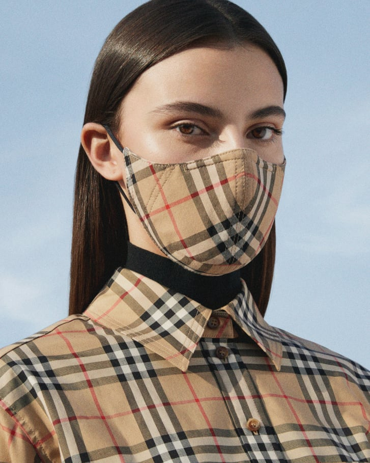 A face mask by Burberry