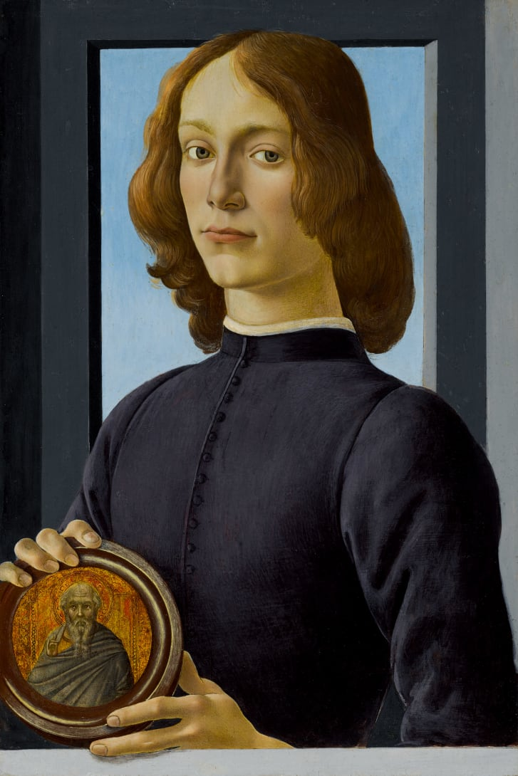 "Sandro Botticelli's ""Young Man Holding a Roundel"" is expected to sell for over $80 million when it goes to auction in January 2021."