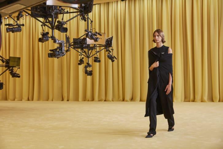 A model walks in Prada's Spring-Summer 2021 digital show.