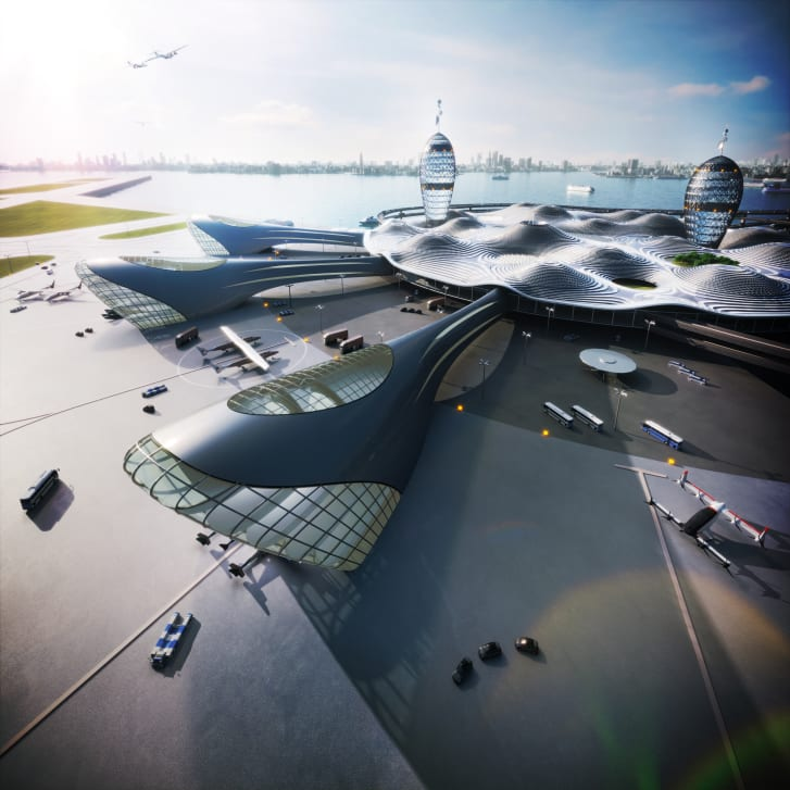 The spaceport is designed like an airport, for suborbital spacecrafts that take off horizontally like planes.